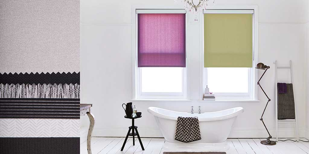 Trendy Bathroom Blinds Free Standing Bath White Floorboards