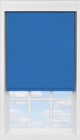 Premium Roller Blind in Electric Blue Translucent