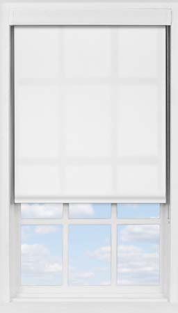 Premium Roller Blind in Chenille Transparent