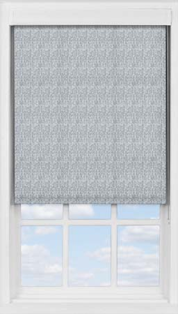 Premium Roller Blind in Herringbone Blue Translucent