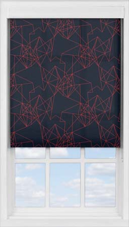 Premium Roller Blind in Prism Burnt Orange Translucent