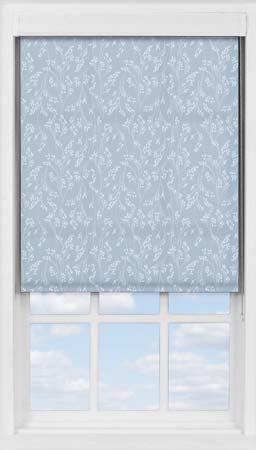 Premium Roller Blind in Barley Fields Blue Translucent
