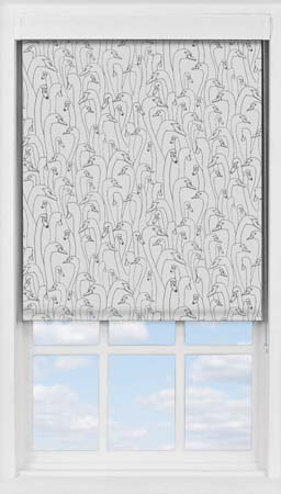 Premium Roller Blind in Wild Geese Dark Grey Blackout