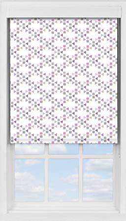 Premium Roller Blind in Triangles Candy Blackout