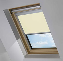 Custom Skylight in Lime Wash Blackout