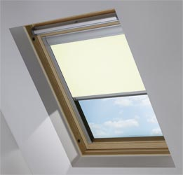 Custom Skylight in Camelia Blackout