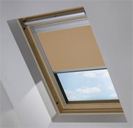 Custom Skylight in Coconut Husk Blackout