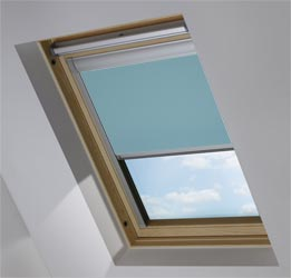 Custom Skylight in Smooth Blue Blackout