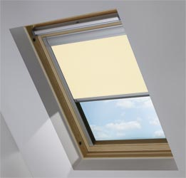 Custom Skylight in Taupe Blackout