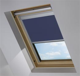 Custom Skylight in True Navy Blackout