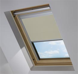 Custom Skylight in Warm Grey Blackout