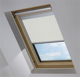 Custom Skylight in Light Grey Blackout