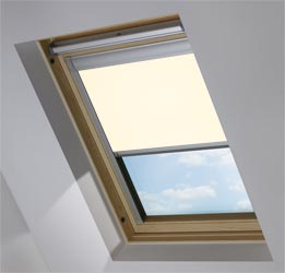 Custom Skylight in Delicate Cream Blackout