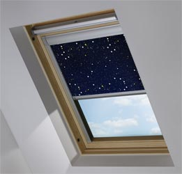 Custom Skylight in Night Sky Blackout