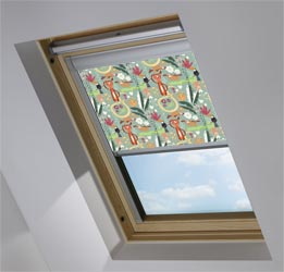 Custom Skylight in Jungle Friends Blackout
