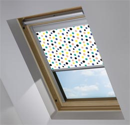 Custom Skylight in Pom Pom Blackout