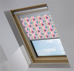 Custom Skylight in Rainbow Sketch Blackout