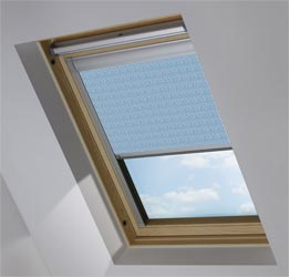 Custom Skylight in Scattered Spots Blue Blackout