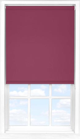 Roller Blind in Cherry Wine Blackout
