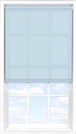 Motorised Roller Blind in Crystal Blue Translucent