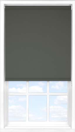 Twin Roller Blind with Gravel Blackout outer fabric