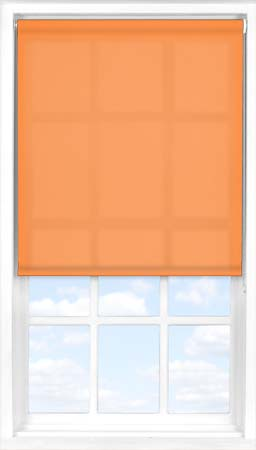 Motorised Roller Blind in Pumpkin Translucent