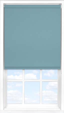 Motorised Roller Blind in Smooth Blue Blackout