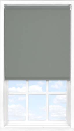 Motorised Roller Blind in Sooty Grey Blackout