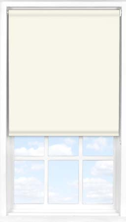 Roller Blind in True White Blackout