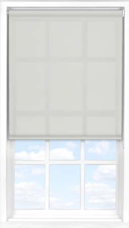 Motorised Roller Blind in Light Grey Translucent