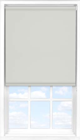 Motorised Roller Blind in Light Grey Blackout