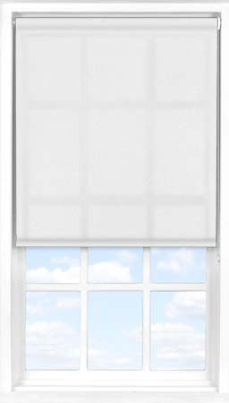 Roller Blind in Flower White Transparent