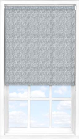 Roller Blind in Herringbone Blue Translucent