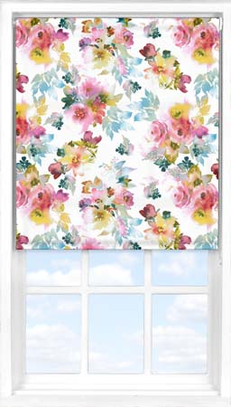 Roller Blind in Oriental Rose Translucent