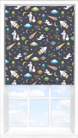 Roller Blind in Space Age Blackout