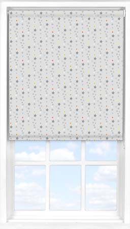 Roller Blind in Soothing Starfall Blackout