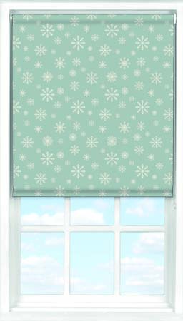 Roller Blind in Snowflakes Translucent