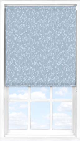 Roller Blind in Barley Fields Blue Blackout