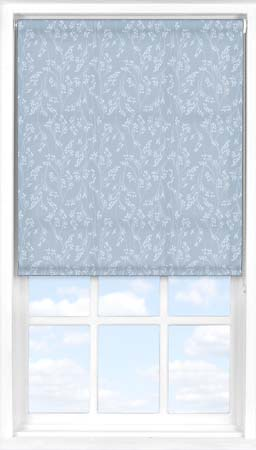 Roller Blind in Barley Fields Blue Translucent