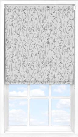Roller Blind in Wild Geese Dark Grey Blackout