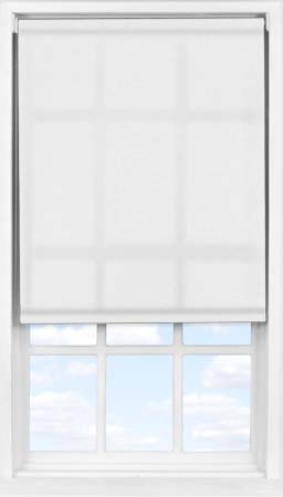 Easifit Roller Blind in Flower White Transparent