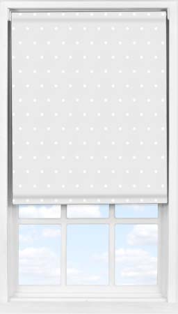 Easifit Roller Blind in Grey Polka Dot Blackout