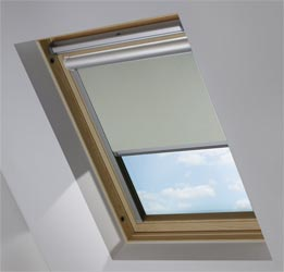 Solar Skylight in Silver Glimmer Metallic Blackout