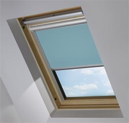 Solar Skylight in Smooth Blue Blackout