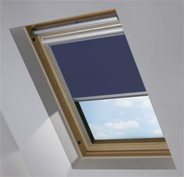 Solar Skylight in True Navy Blackout
