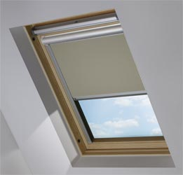 Solar Skylight in Truffle Blackout