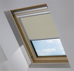 Solar Skylight in Warm Grey Blackout