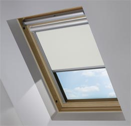 Solar Skylight in Light Grey Blackout