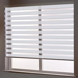 Zebra Roller Blind in Spring White