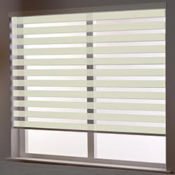 Zebra Roller Blind in Spring Cream